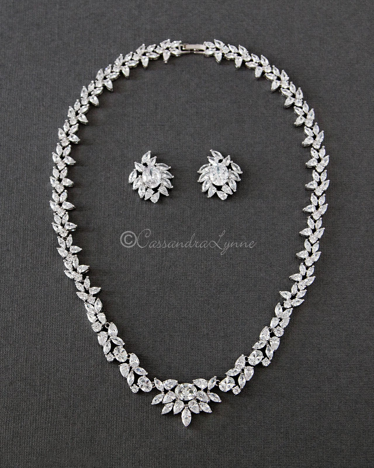 Multi-Shape Cubic Zirconia Necklace Set