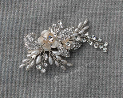 Oat Pearl and Jewels Hair Clip