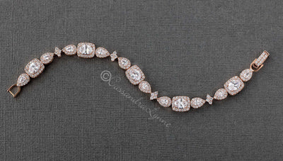 rose gold designer inspired bracelet