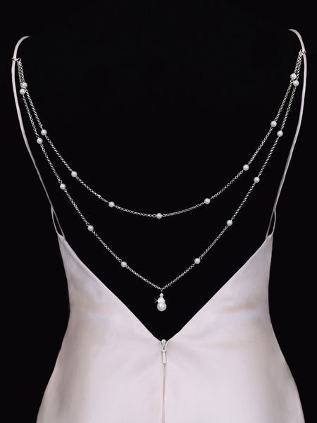 Pearl Back Jewelry for Dresses