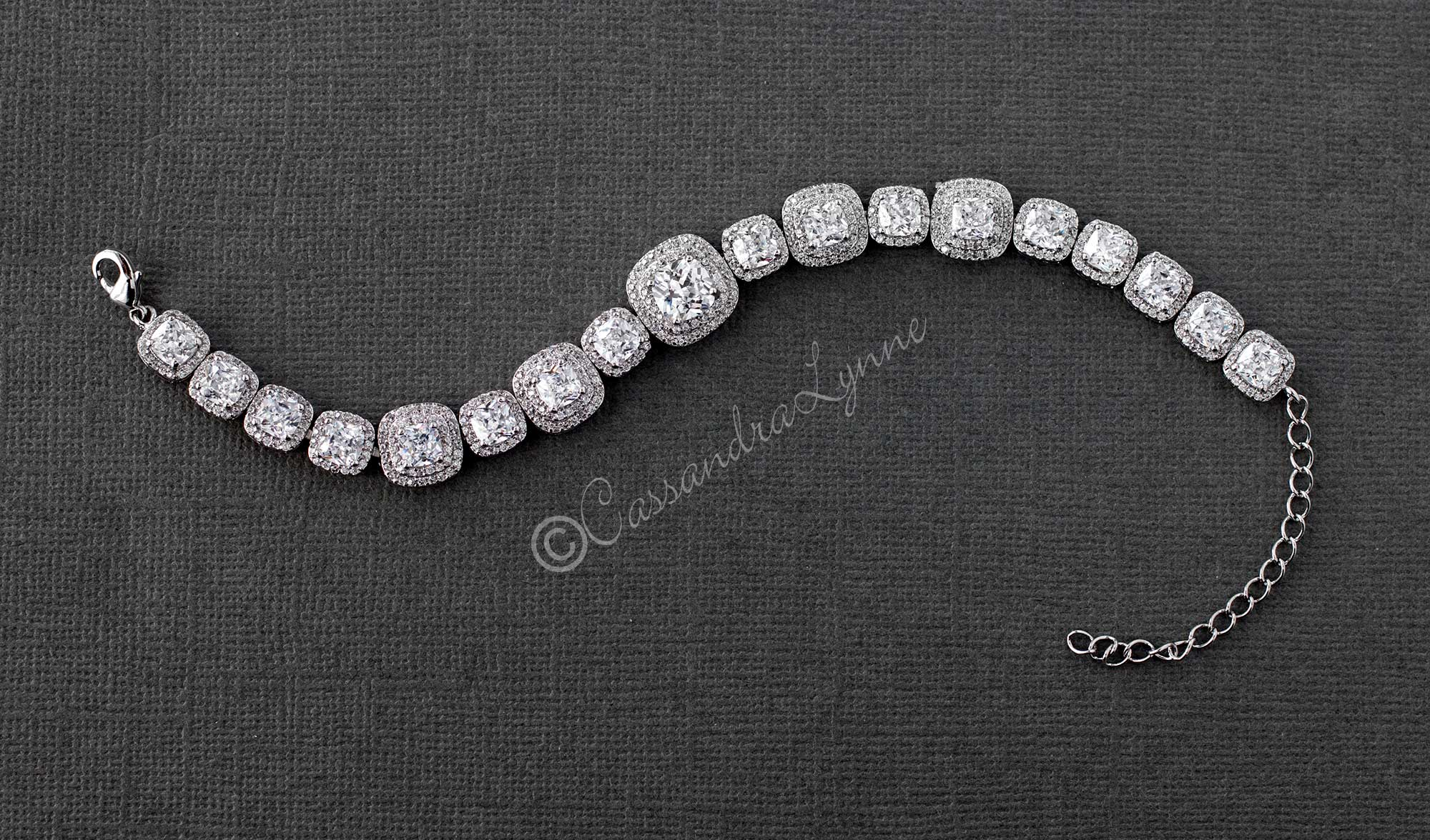 Cushion Cut Cubic Zirconia Bracelet