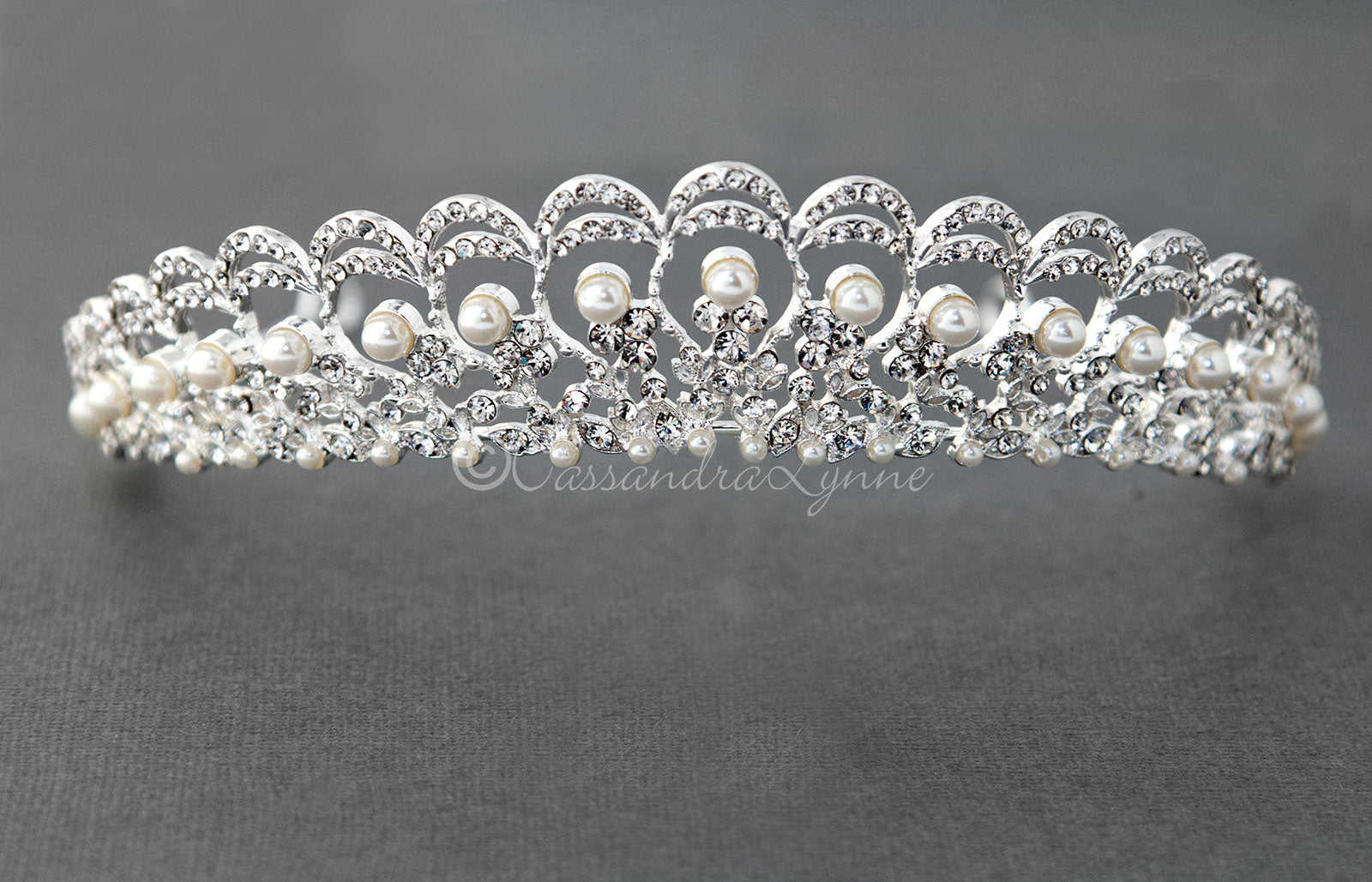 Regal Pearl Wedding Tiara