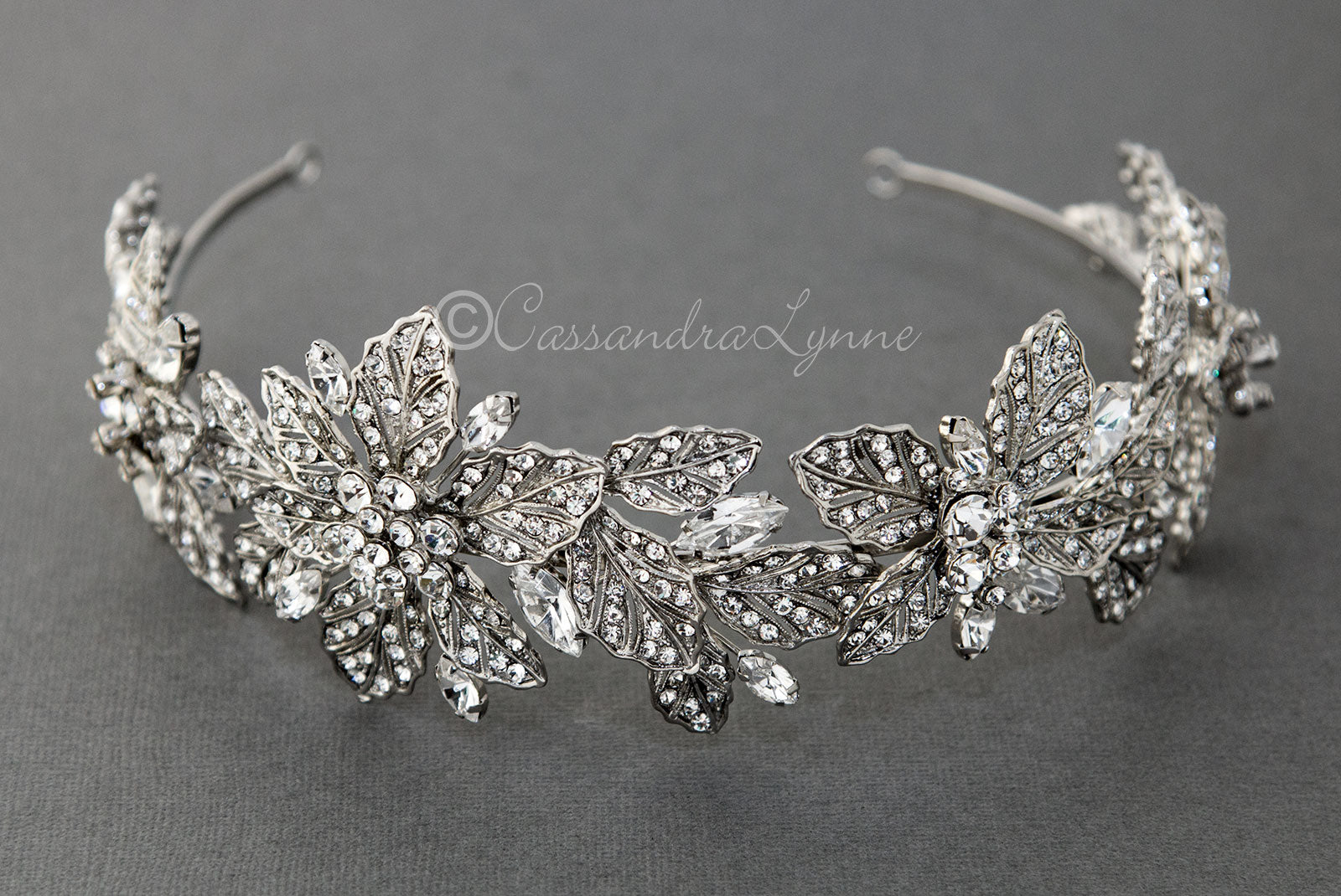 Rhinestone Leaf Royal Headpiece