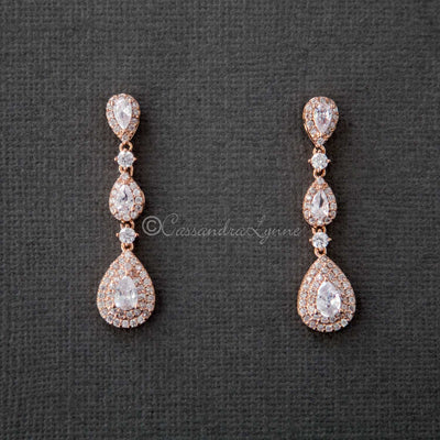 Teardrop Dangle Wedding Earrings