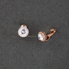 Clip-On Pave Round CZ Stud Earrings