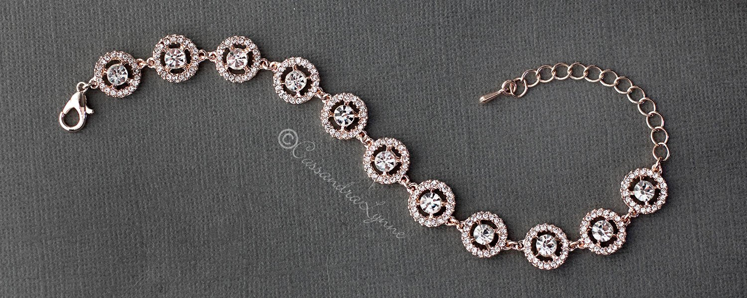 rose gold halo bracelet