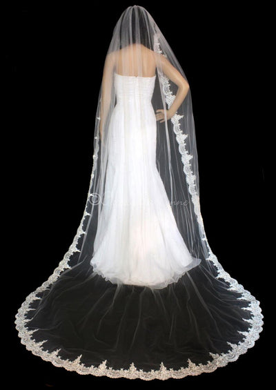 Royal Length Wedding Veil Many Lengths