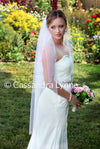 Scalloped Beaded Wedding Veil 45 Inch