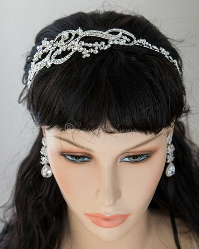 Crystal Side Wedding Headband