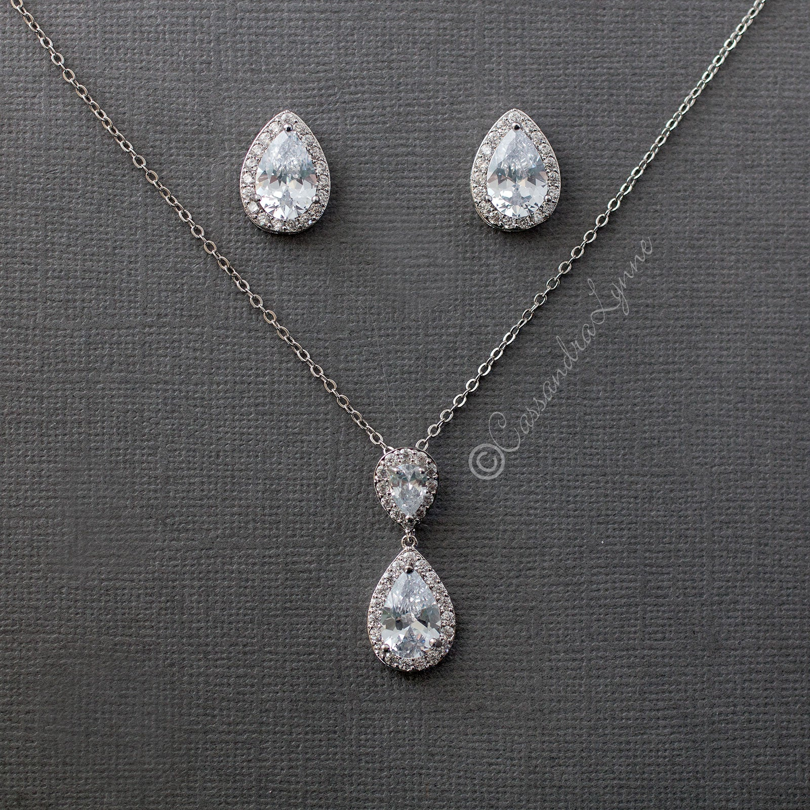 Bridal Necklace Pendant Set