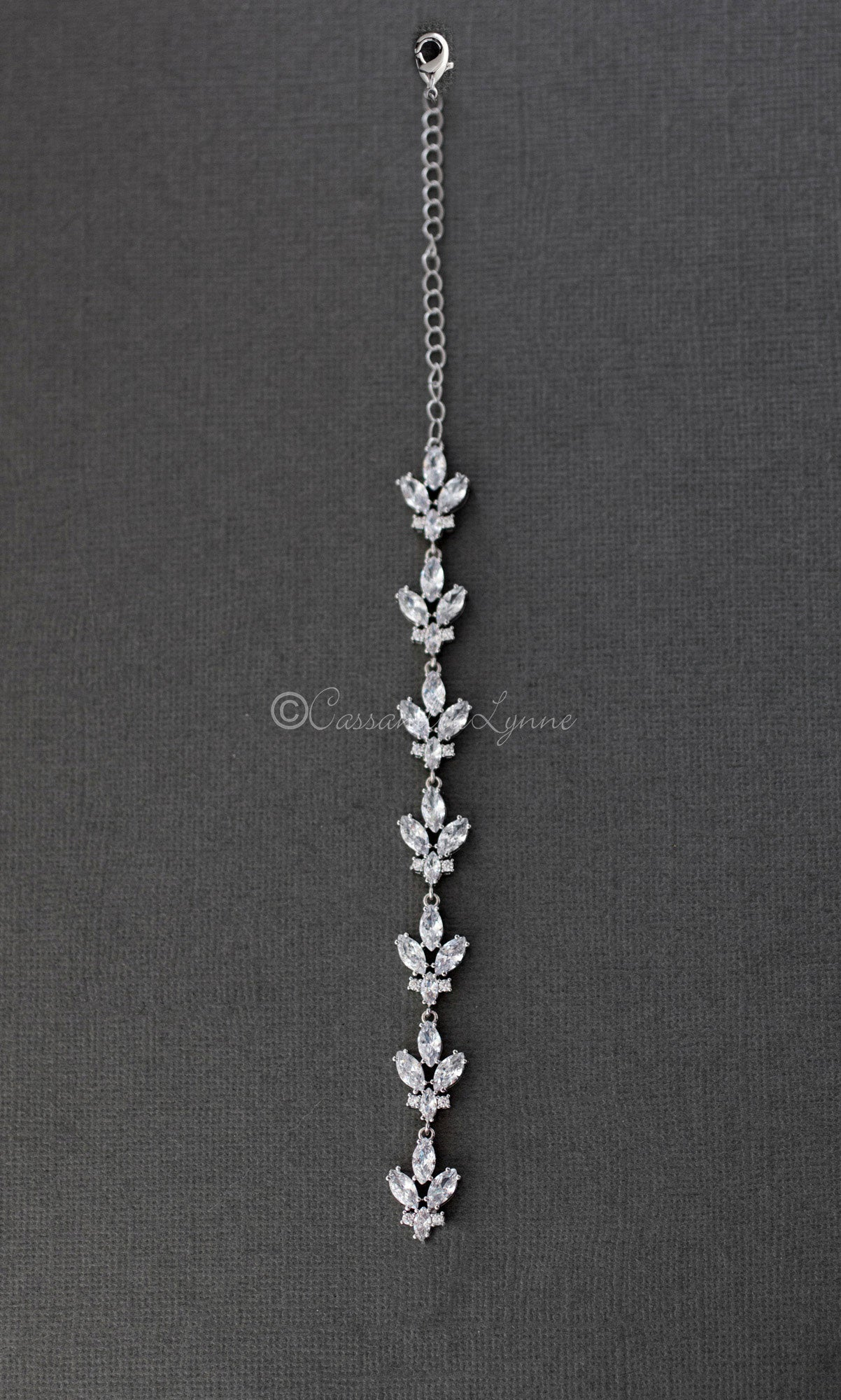 Marquise Leaf Necklace Back Drop