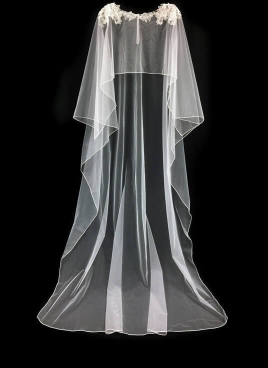 Wedding Cape with Silver Accented Lace