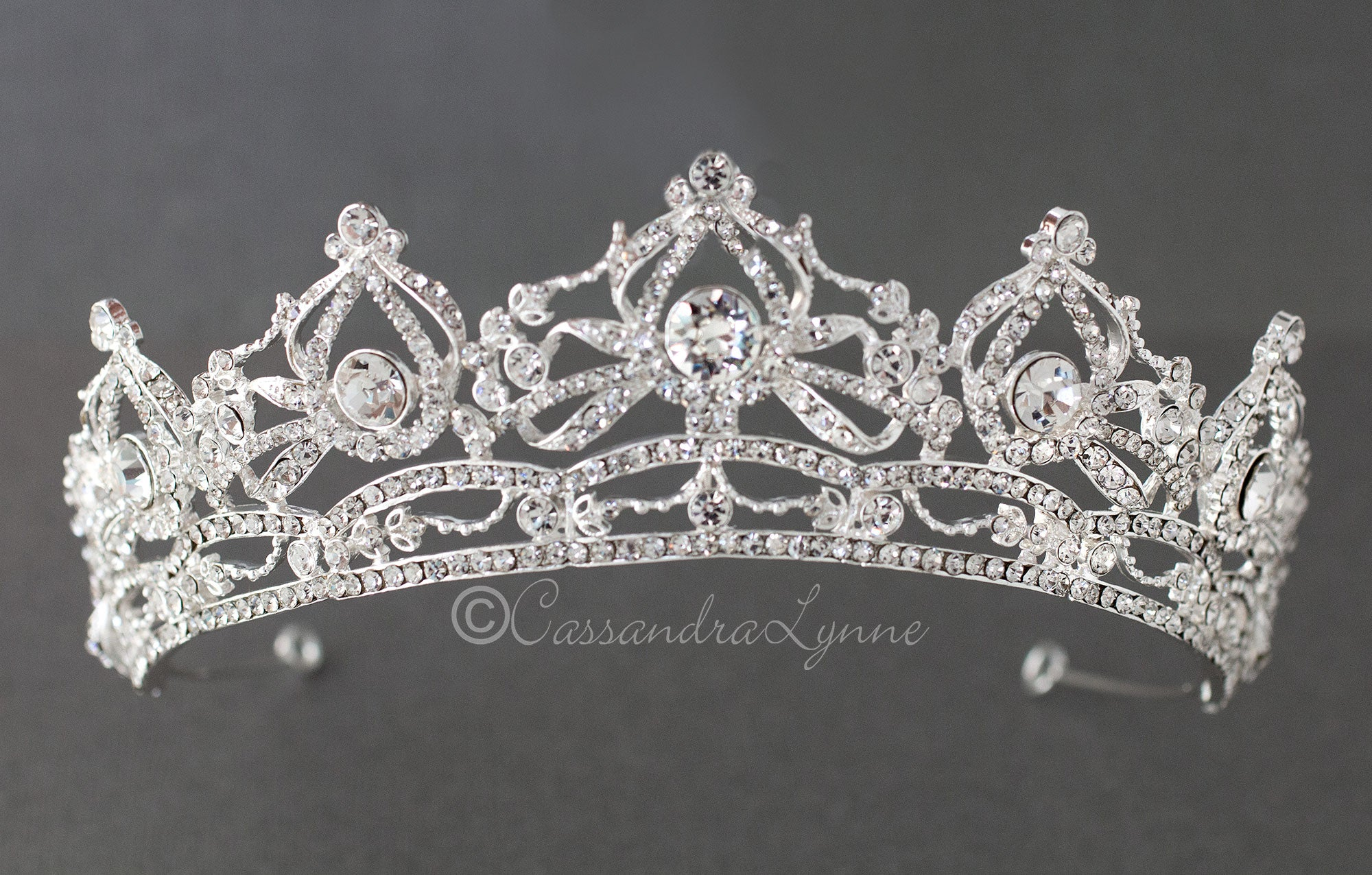 Noble Rhinestone Tiara for the Bride