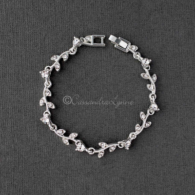 Delicate Crystal Vine Wedding Bracelet