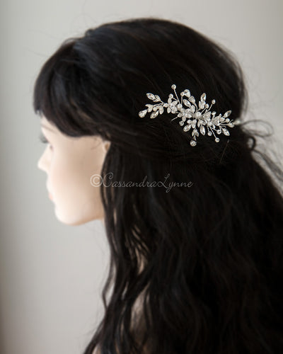 Crystal and Pearl Wedding Comb