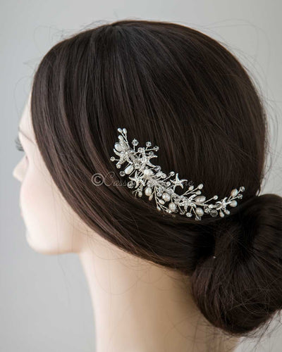 Beach Wedding Hair Comb with Starfish and Pearls