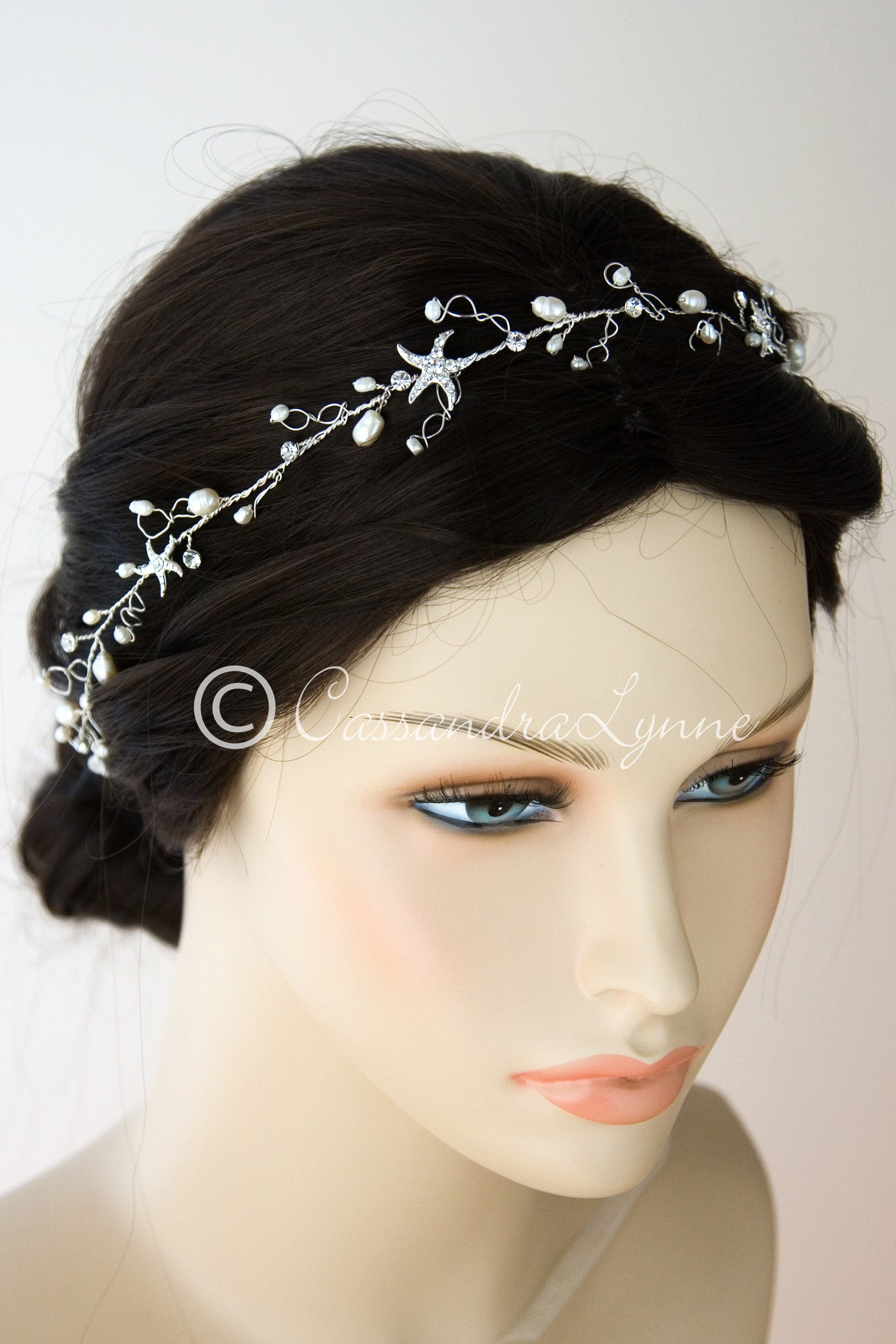 Beach Wedding Hair Forehead Wrap with Starfish