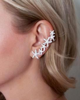 Beach Bride CZ Starfish Ear Cuff