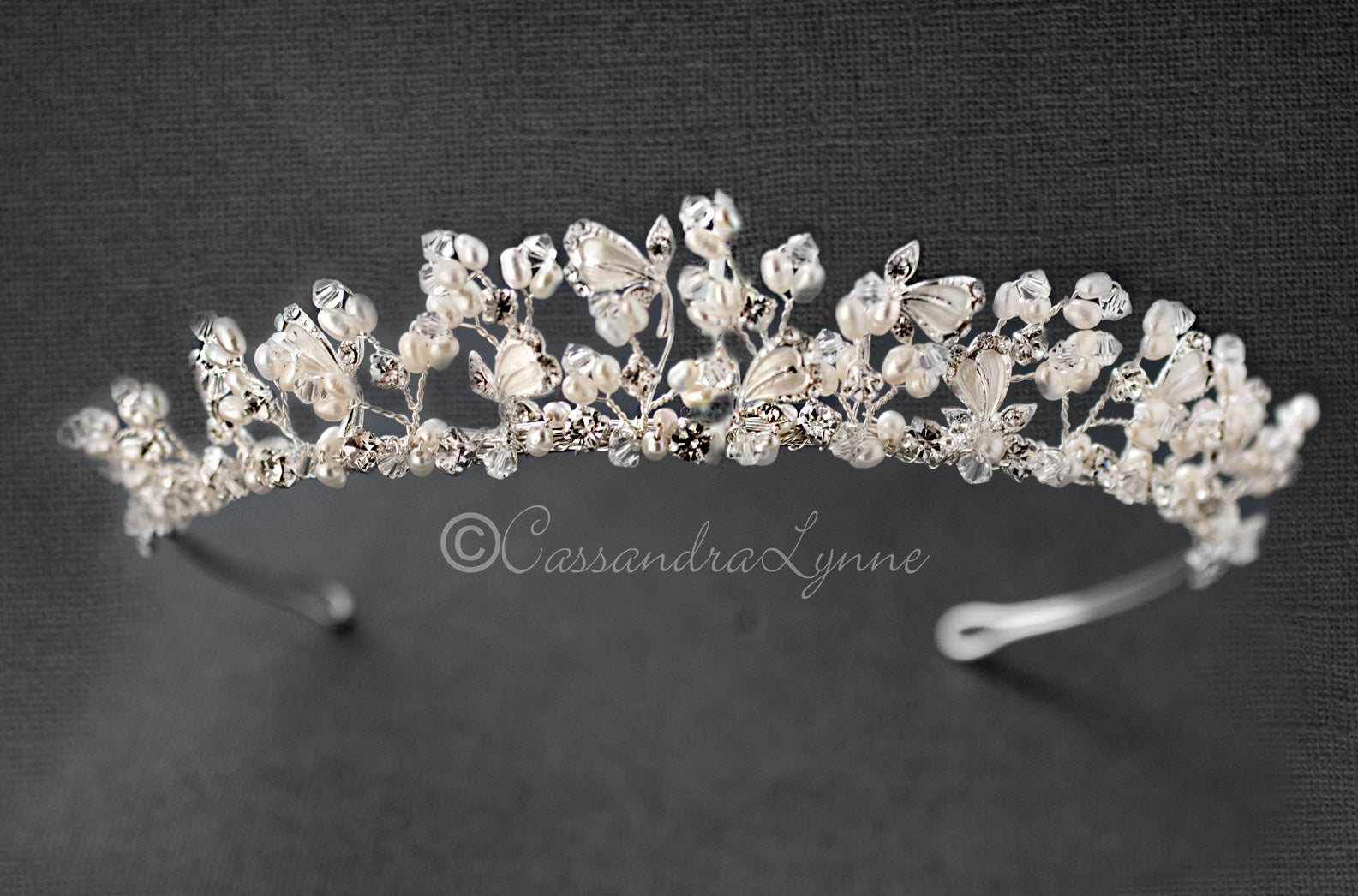 Pearl and Crystal Bridal Tiara