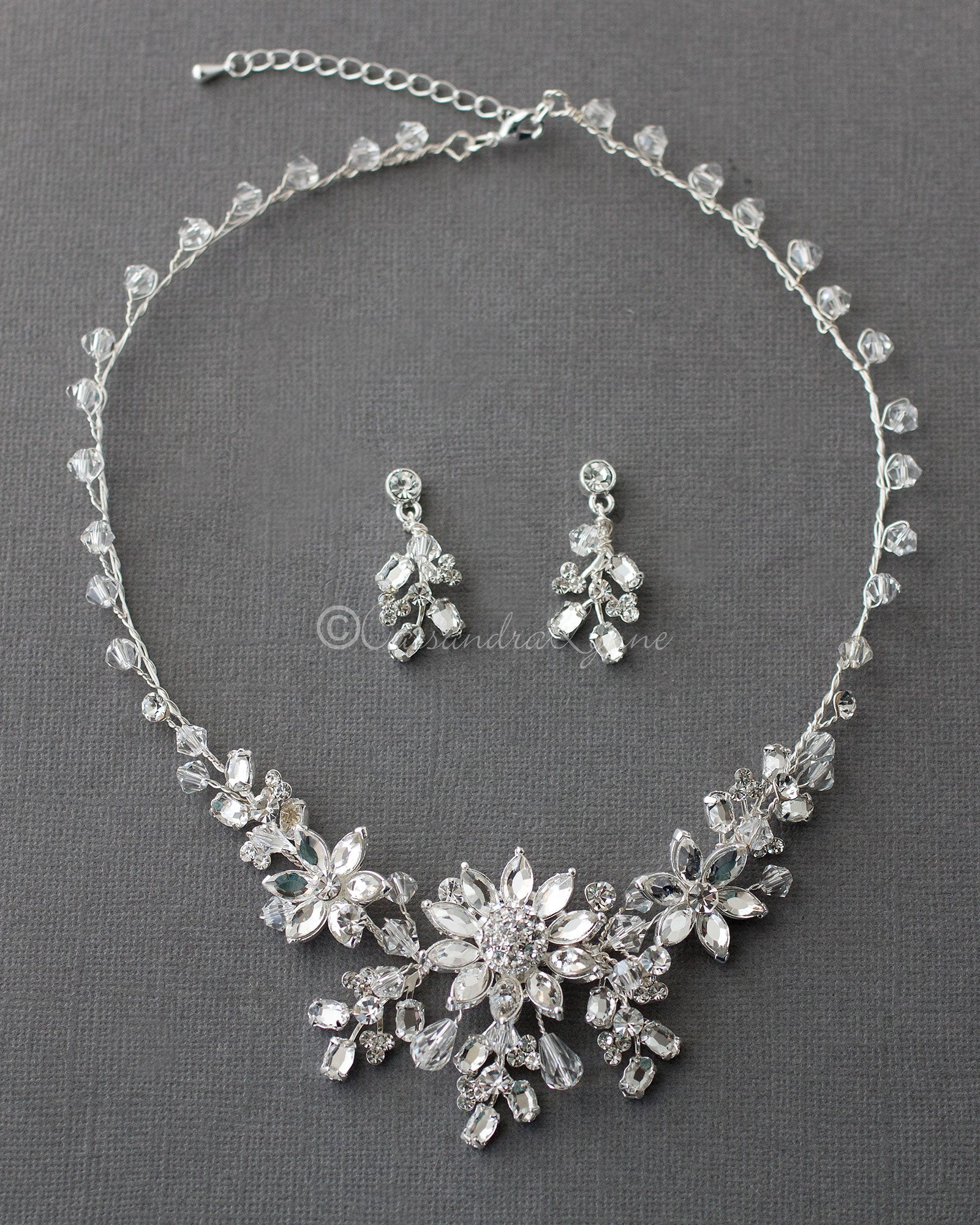 Sunflower Wedding Necklace Set