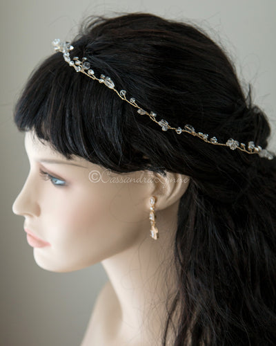 Crystal Wedding Hair Wrap in Gold