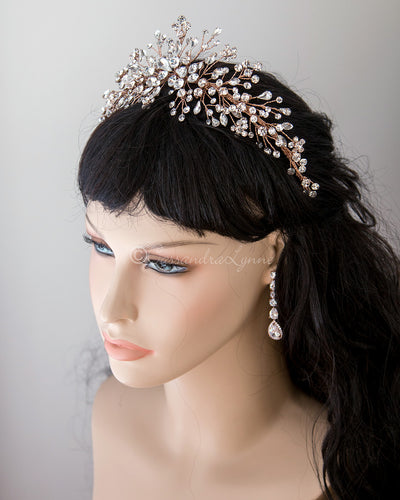 Jewel Spray Wedding Headpiece