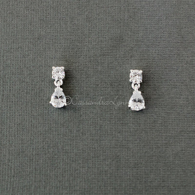 Petite Pear Drop Crystal Earrings