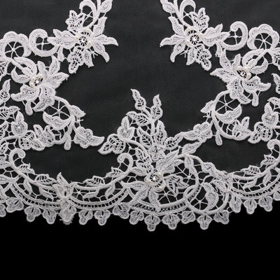 Mirrored Venise Lace Wedding Cathedral Veil