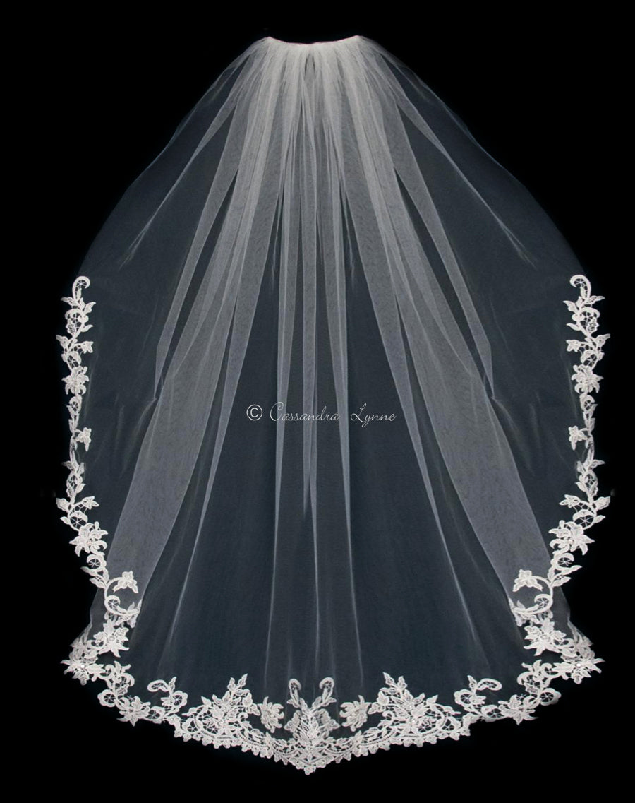 Ivory Venise Lace Wedding Veil