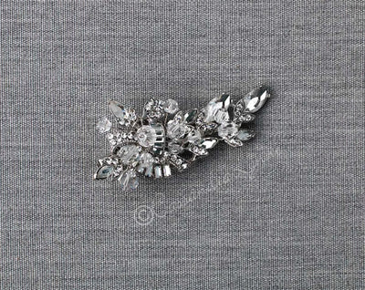Vintage Bridal Clip of Crystal and Baguette Jewels