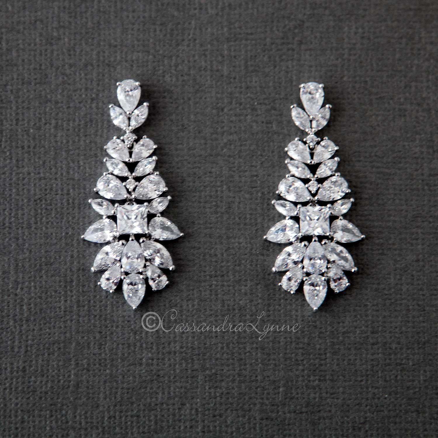 Vintage Drop Bridal Earrings