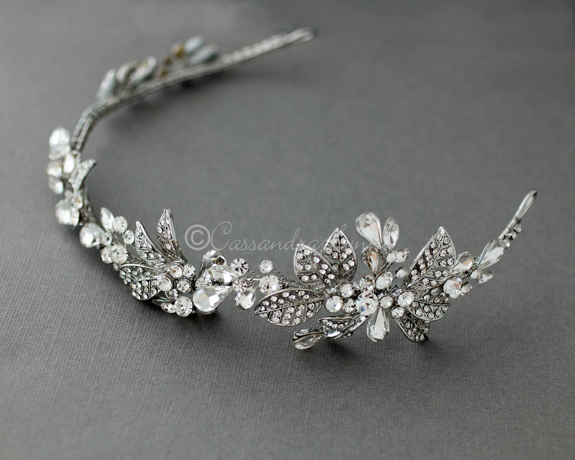 Antique Silver Wedding Headband