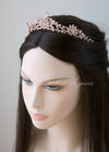 Rose Gold Princess Tiara with Floral Design