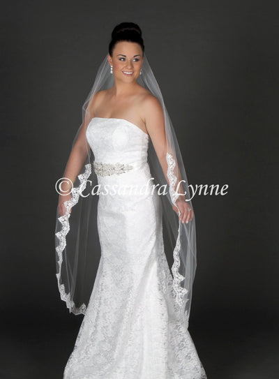 Waltz Partial Lace Bridal Veil