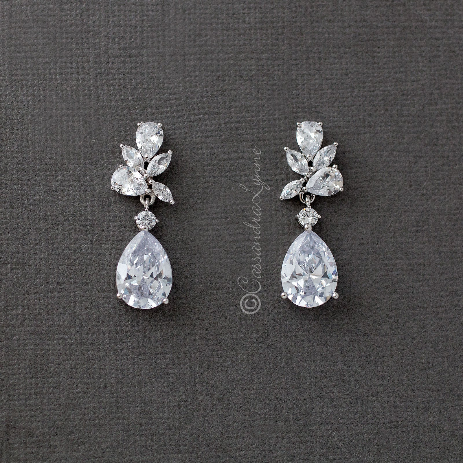 water drop wedding earrings
