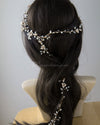 Extra Long Pearl Wedding Hair Vine