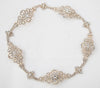Wedding Halo Circlet of Filigree Crystal Links Gold