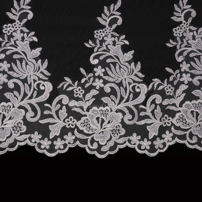 Royal Sequin Wide Lace Bridal Veil