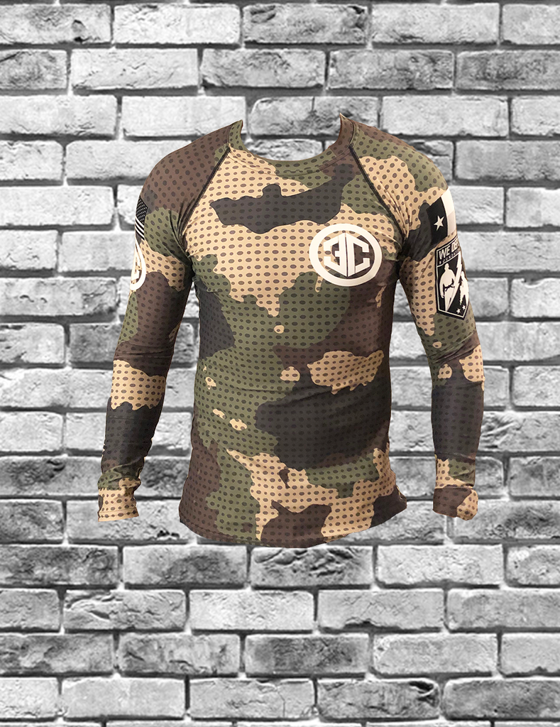 We Defy + 3rd Coast Grappling Collab Camo Rashguard