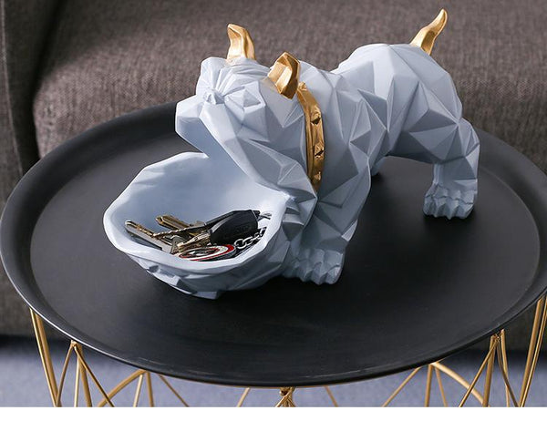 Bulldog statue decoration shop