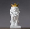 White Lion King Statue Decoration