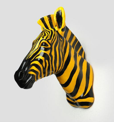 Zebra Wall Mural Statue Decoration
