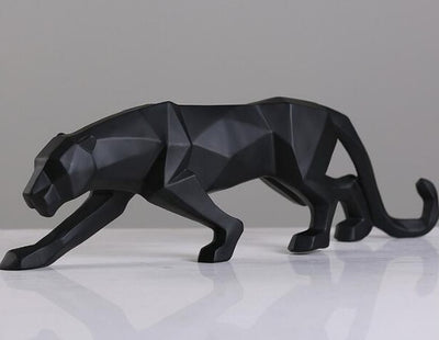 Abstract Black Panther Sculpture Statue