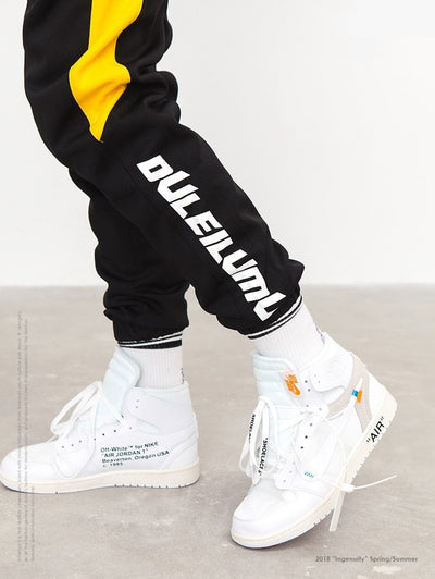 Versus Duleilumu Black/Yellow Stripe Joggers Pants