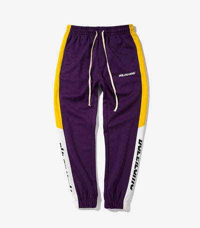 Versus Duleilumu Stripe Jogger Pants - Purple