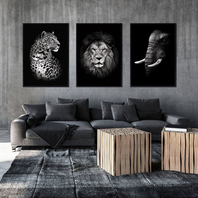 Modern Wild Animals Canvas Wall Art Print