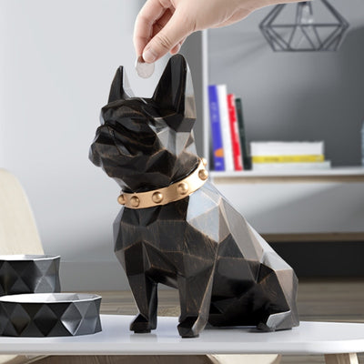 Geometric Bulldog Creative Money Box Decoration