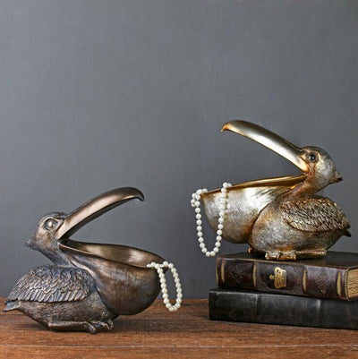Creative Bird Pelican Key Storage Ornament