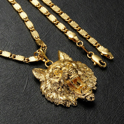 Mayfair Wolf 24K Gold Men's Pendant
