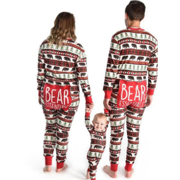 deer printed holiday onesies for the whole family